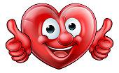 Heart Cartoon Mascot