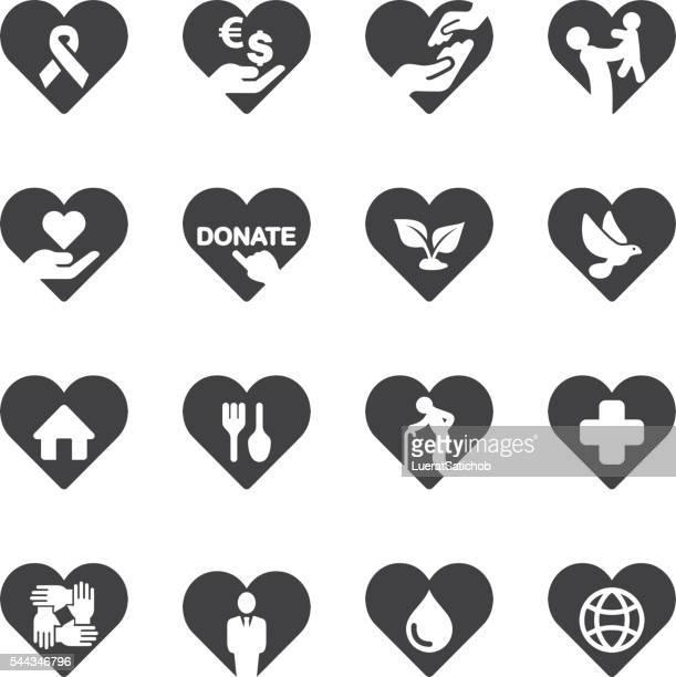 ilustrações, clipart, desenhos animados e ícones de coração caridade e assistência icons/eps10 - símbolo médico