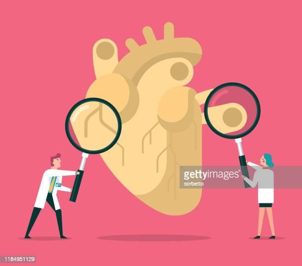 heart checkup - cardiologist stock illustrations