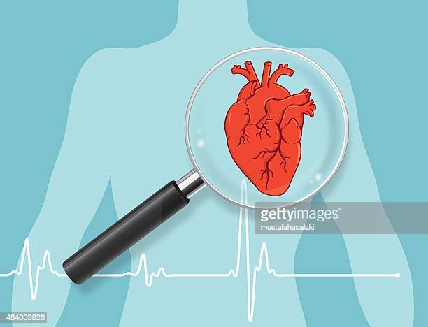 heart checkup - body care stock illustrations