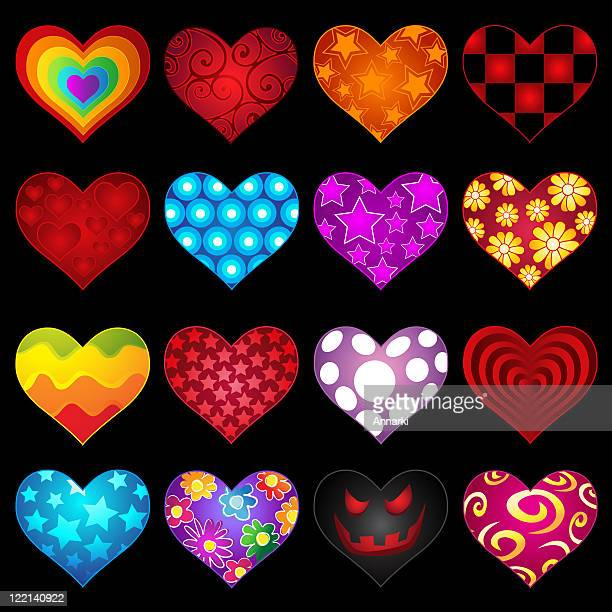 heart collection - animal heart stock illustrations, clip art, cartoons, & icons