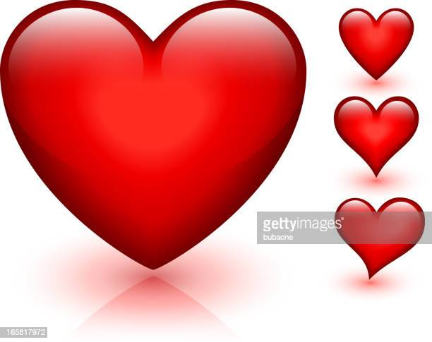 Heart Design Collection Red Valentine's day vector graphic