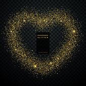 heart design made with golden glitter