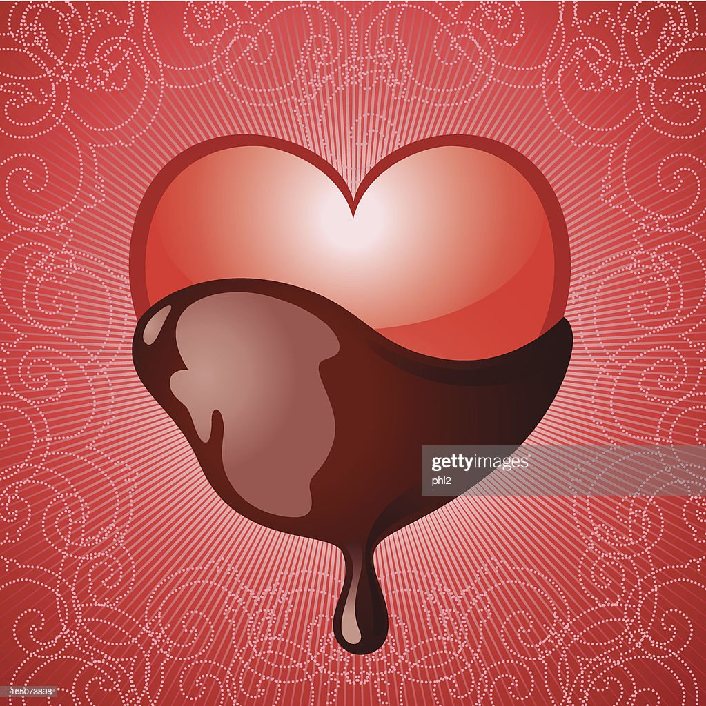 Heart Dipped in Chocolate Vector