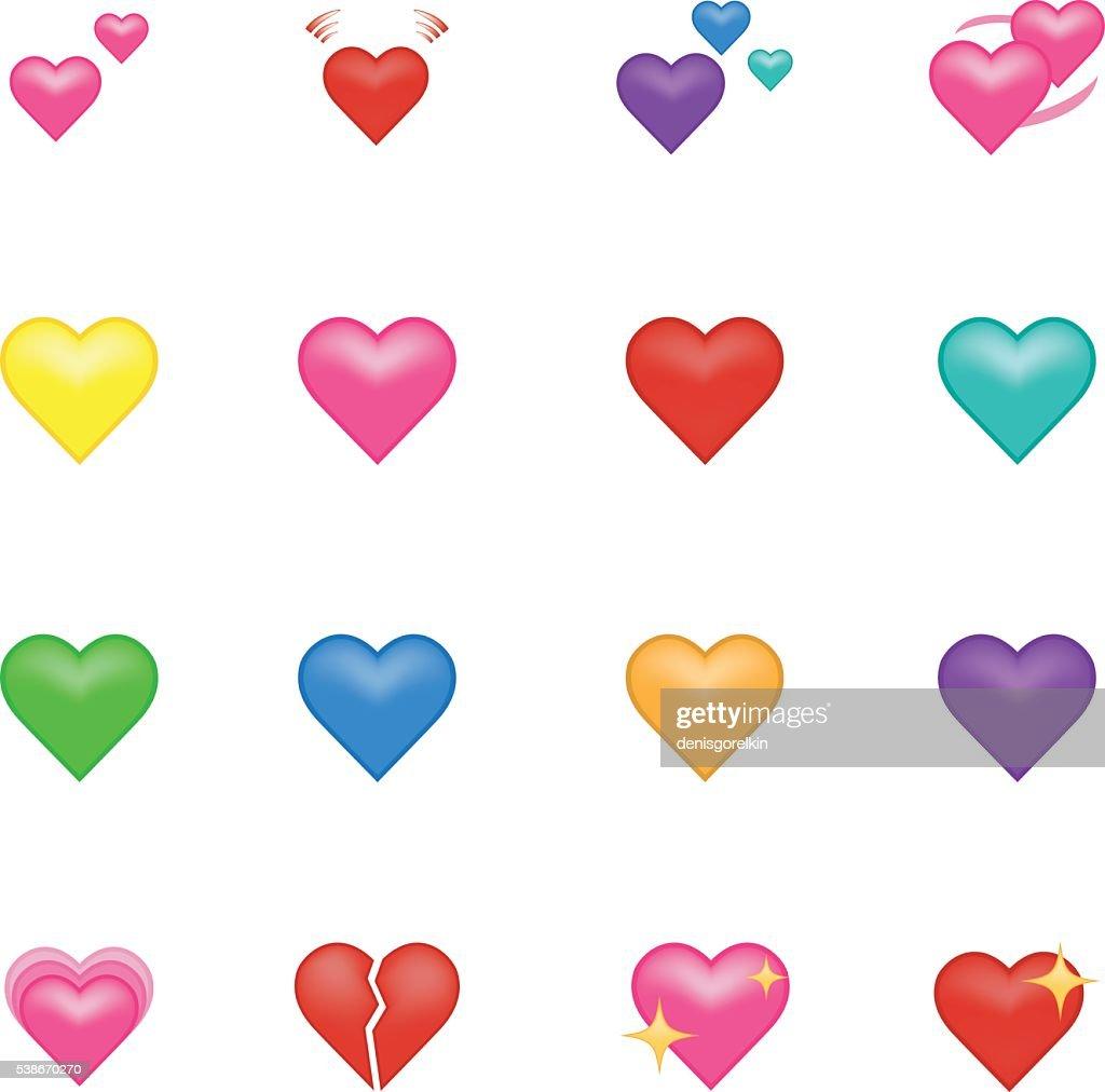 Heart emoji.