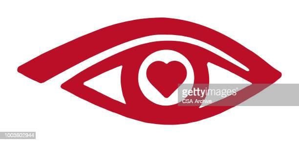 心臓の目 - heart shape点のイラスト素材/クリップアート素材/マンガ素材/アイコン素材