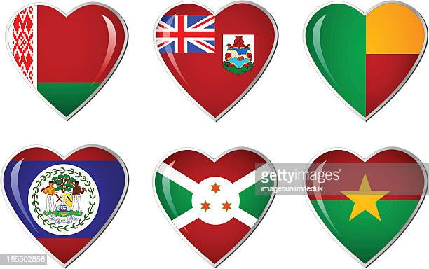 Heart flag collection