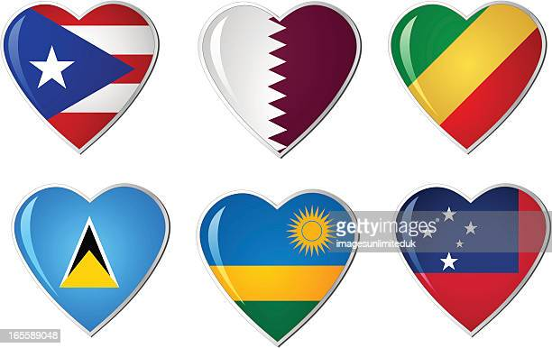 Heart Flags Collection