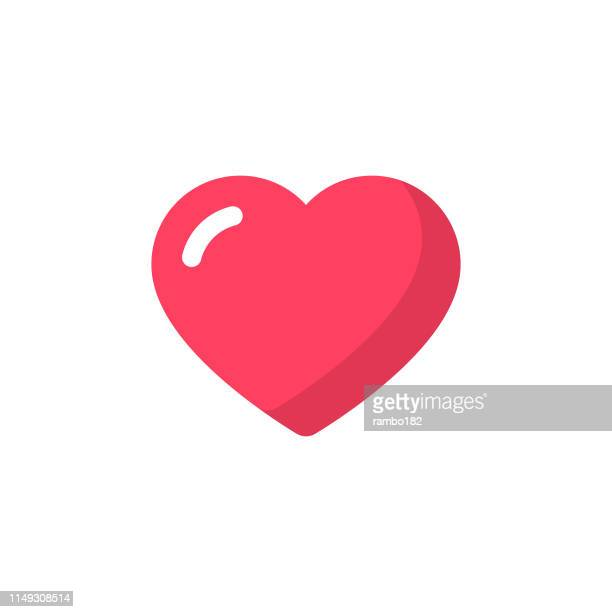 Heart Flat Icon. Pixel Perfect. For Mobile and Web.