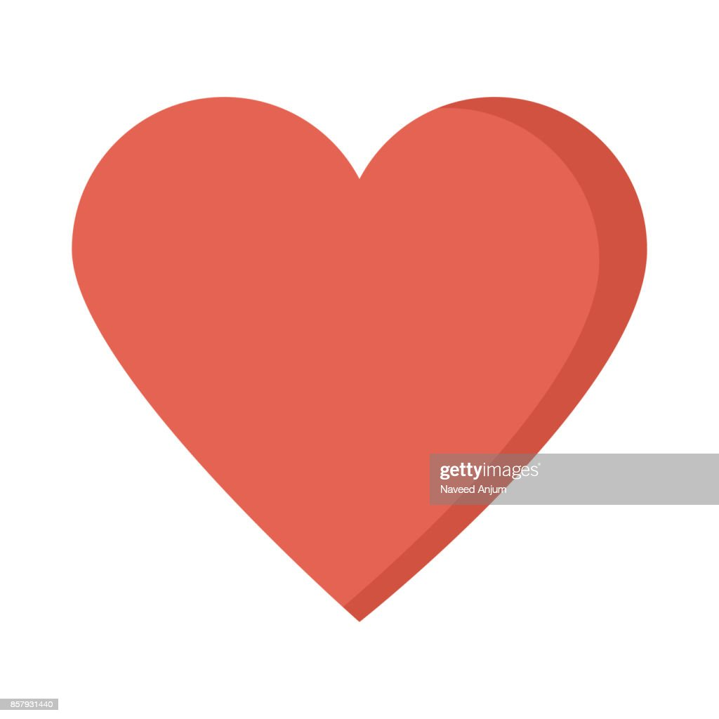 heart Flat Vector Icon
