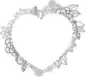 Heart floral frame