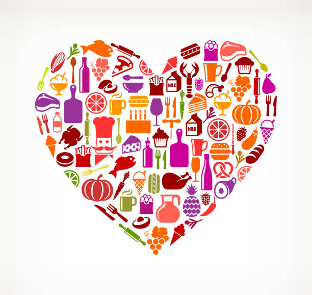 Heart Food & Drink Royalty Free Vector Arts Wall Art