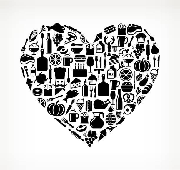 Heart Food & Drink Royalty Free Vector Arts Wall Art