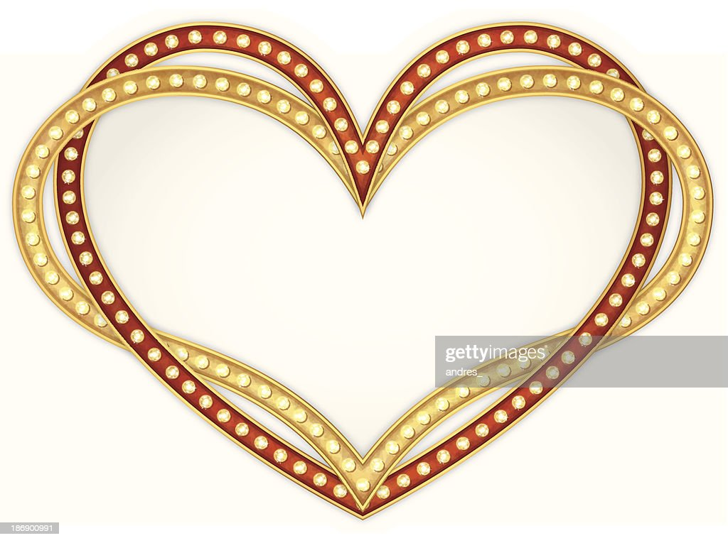 Heart frame with lamps