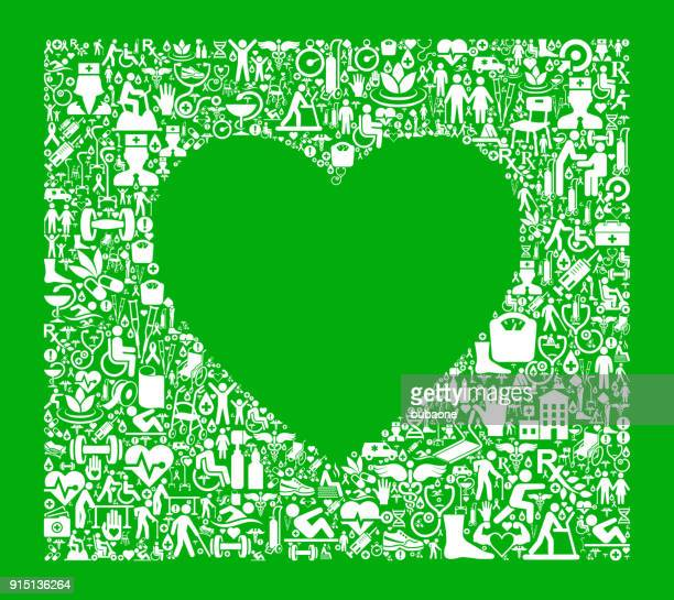 heart garden and gardening vector icon pattern - work romance stock illustrations, clip art, cartoons, & icons