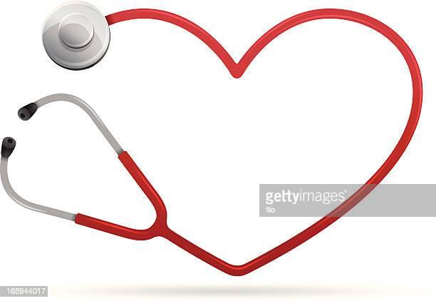 heart health - stethoscope stock illustrations
