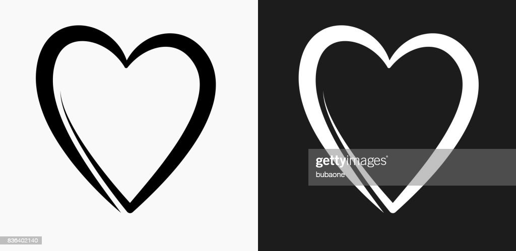 Heart Icon on Black and White Vector Backgrounds : stock illustration