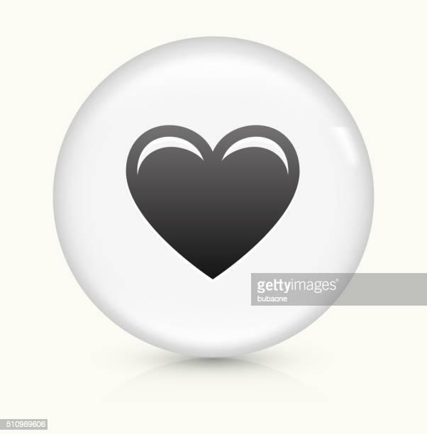 Herz Symbol auf weißer Runder Vektor Knopf