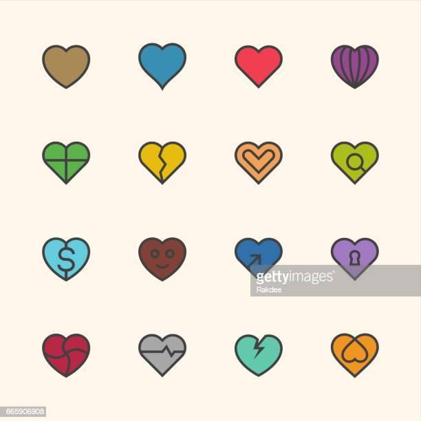 ilustraciones, imágenes clip art, dibujos animados e iconos de stock de icono del corazón - serie de contorno - flirting