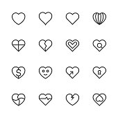 Heart Icon Set 1 - Line Series