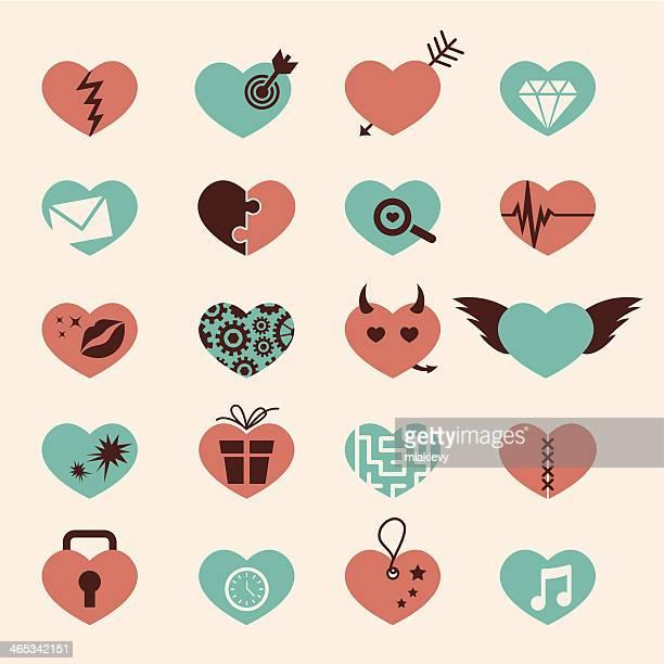 Heart icon set 2