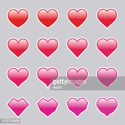 Glowing Heart Shapes Vector Art | Getty Images