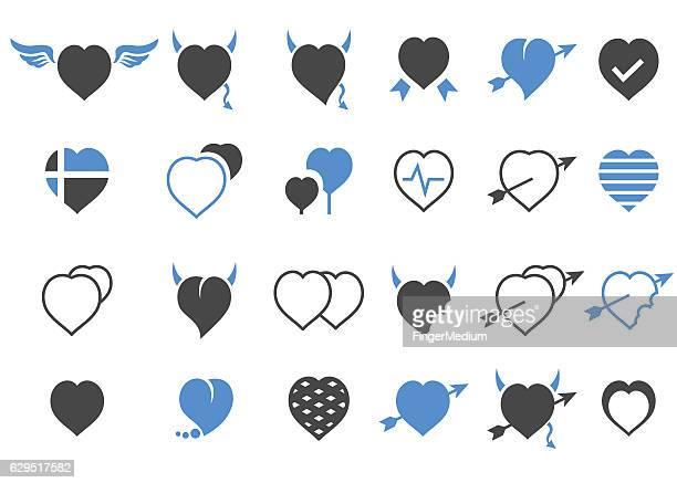 ハートのアイコンセット - heart shape点のイラスト素材/クリップアート素材/マンガ素材/アイコン素材