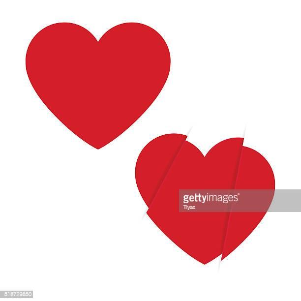 heart icon - broken heart stock illustrations