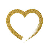 Heart icon with glitter effect, isolated on white background.