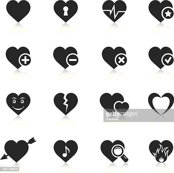 heart icons - broken heart stock illustrations