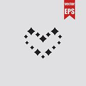 Heart icon.Vector illustration.