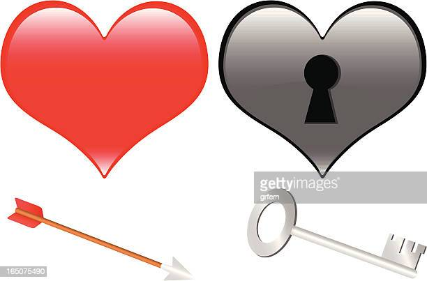 heart illustration - animal heart stock illustrations, clip art, cartoons, & icons