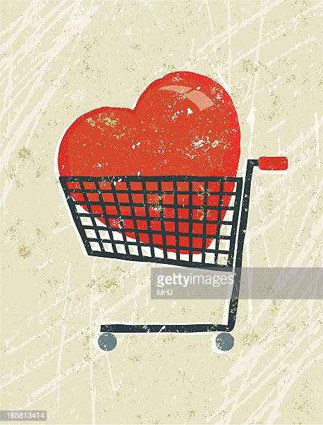 heart in a shopping trolley - prostitution stock illustrations, clip art, cartoons, & icons