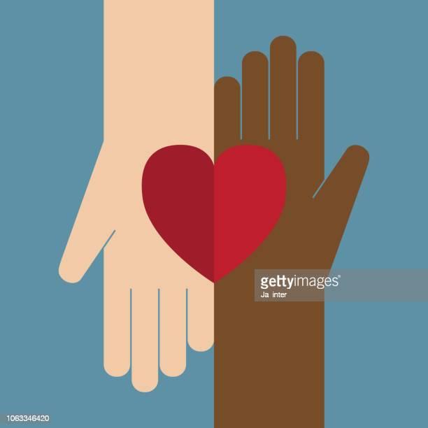 heart in hands - community stock illustrations