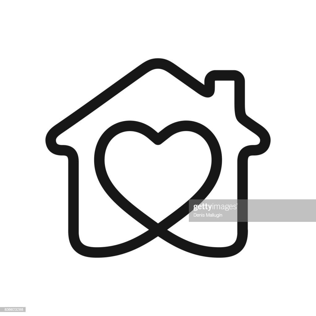 Heart in house
