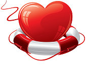 Heart in the lifebuoy