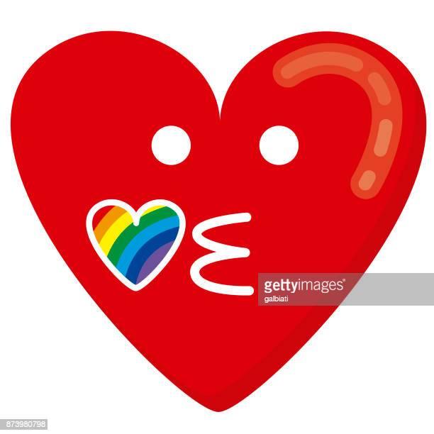 Heart kissing