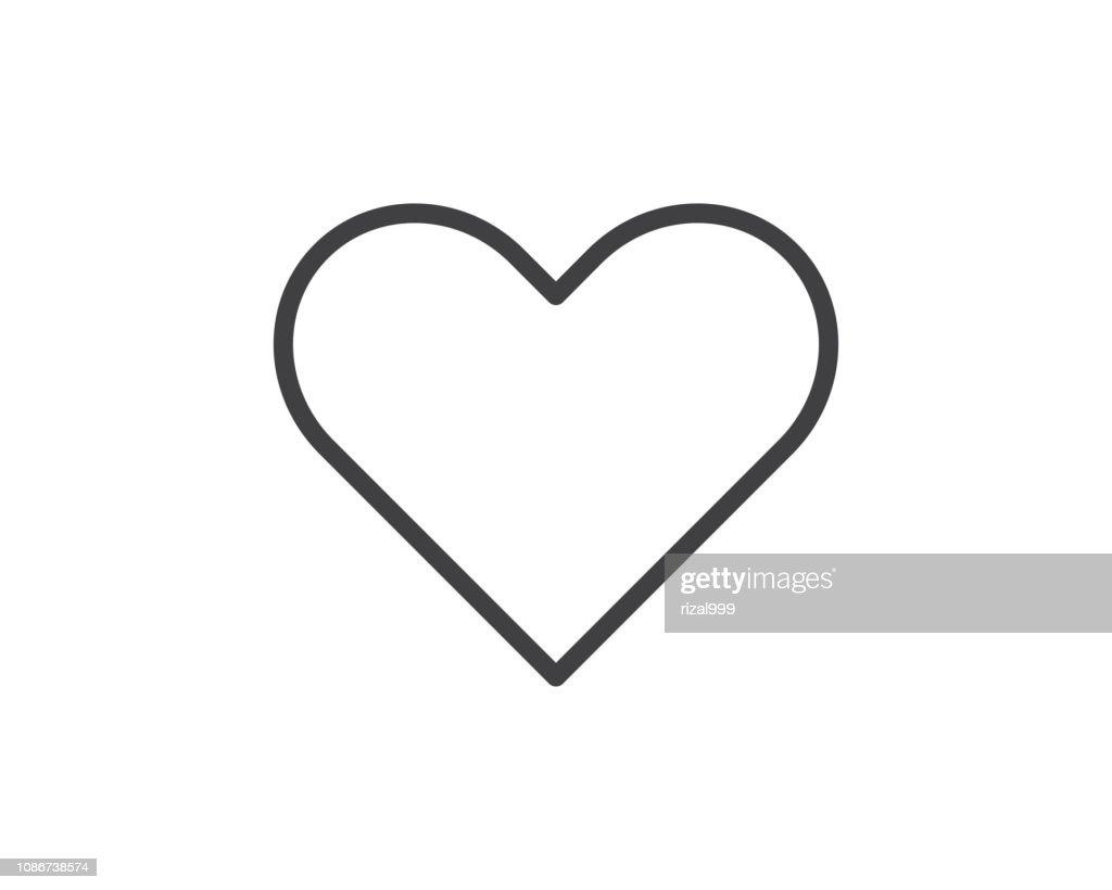 heart line icon illustration vector,love icon illustration design
