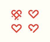 Heart line symbols