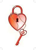 Heart locker and key