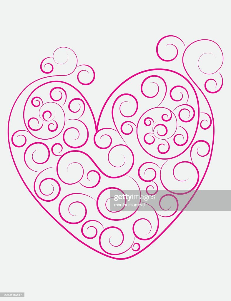 Heart love ornament
