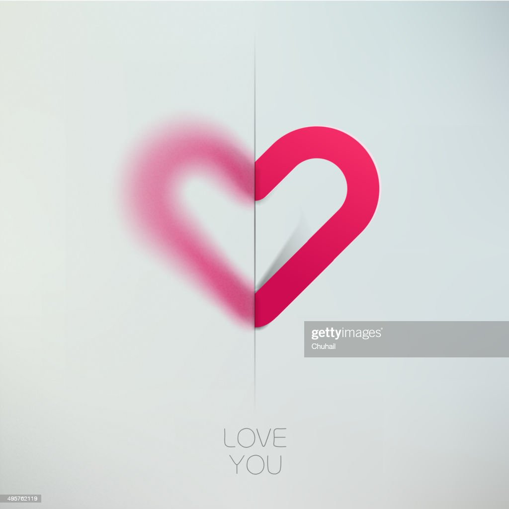 Heart love symbol design template. Happy Valentines day concept icon.