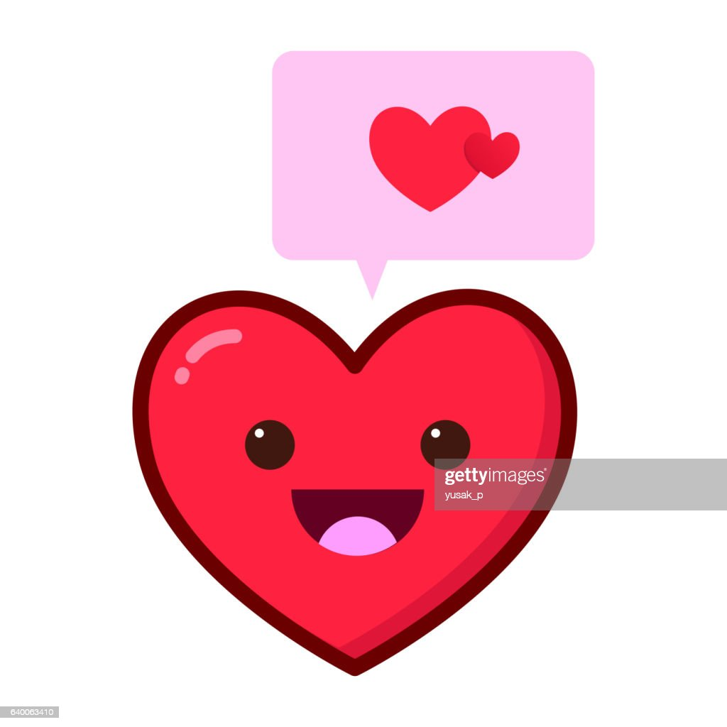 Heart Love Symbol With Speech Bubble Vector Art Getty Images
