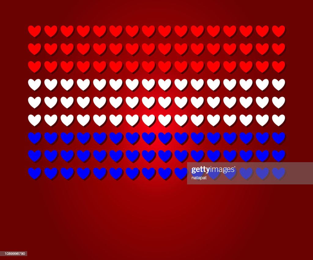 heart Netherland flag shape Love concept design
