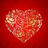 Heart of flowers gzhel