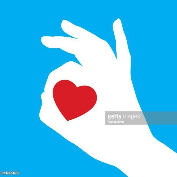 heart okay hand sign - ok sign stock illustrations