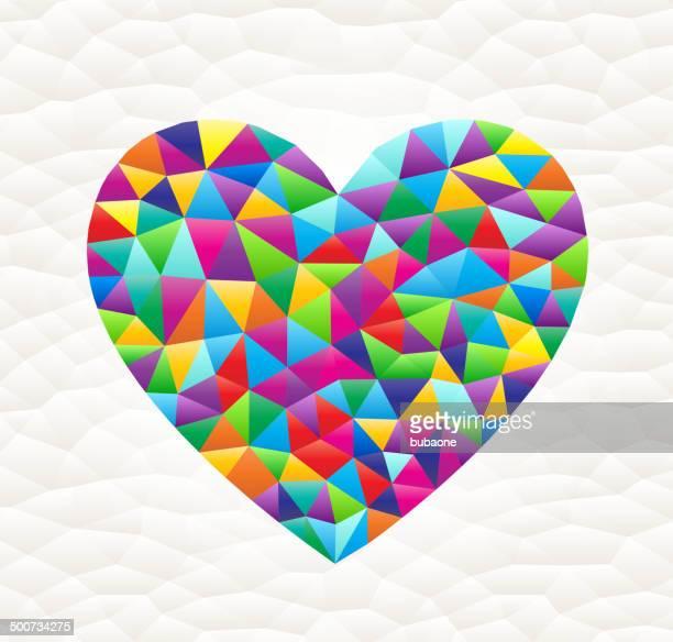 heart on triangular pattern mosaic royalty free vector art - free mosaic patterns stock illustrations