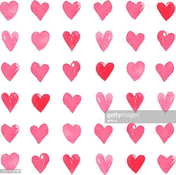 heart pattern - heart shape stock illustrations