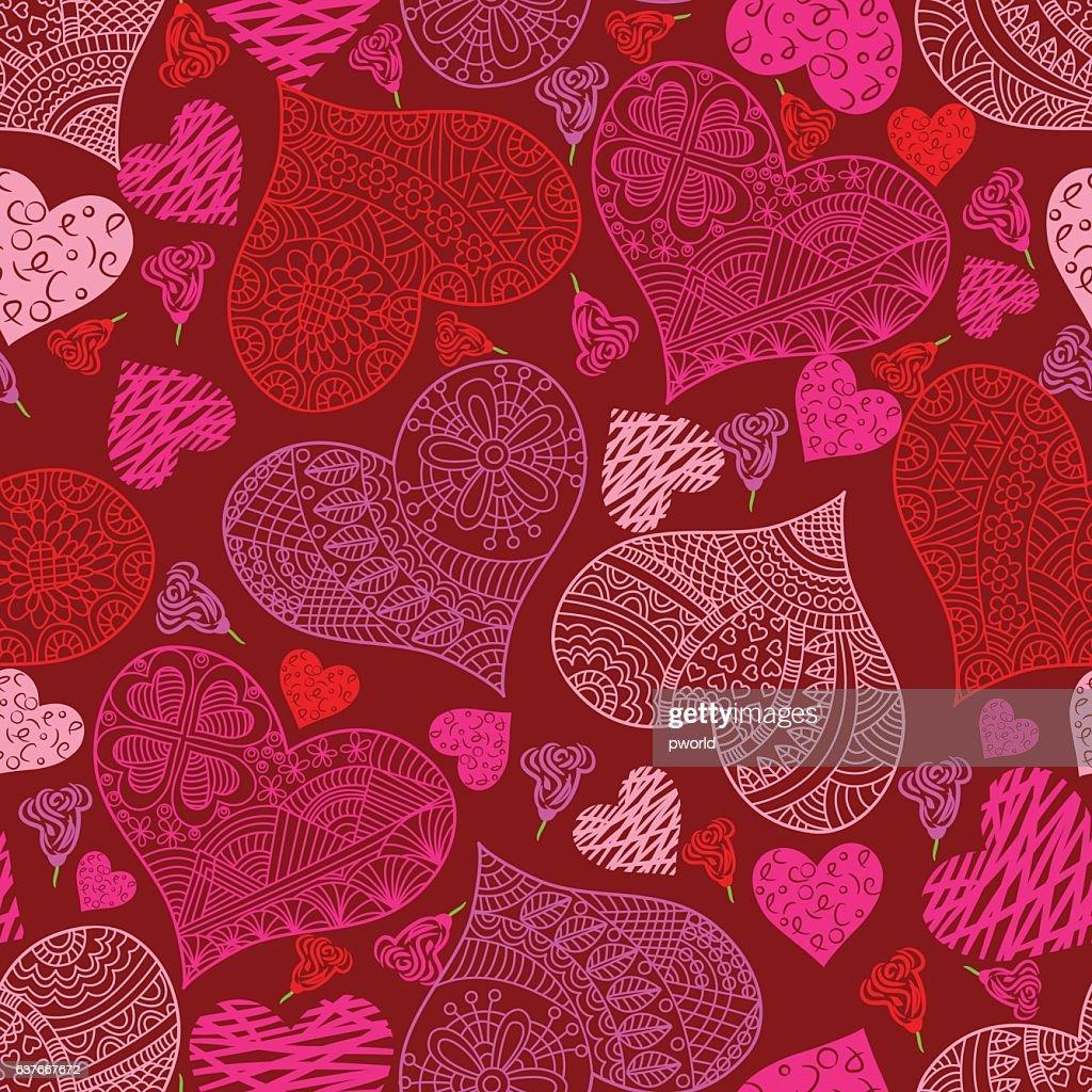 Heart pattern . : stock illustration