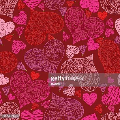 Heart pattern .